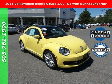 Certified Pre-Owned 2015 VOLKSWAGEN BEETLE COUPE 2.0 TDI